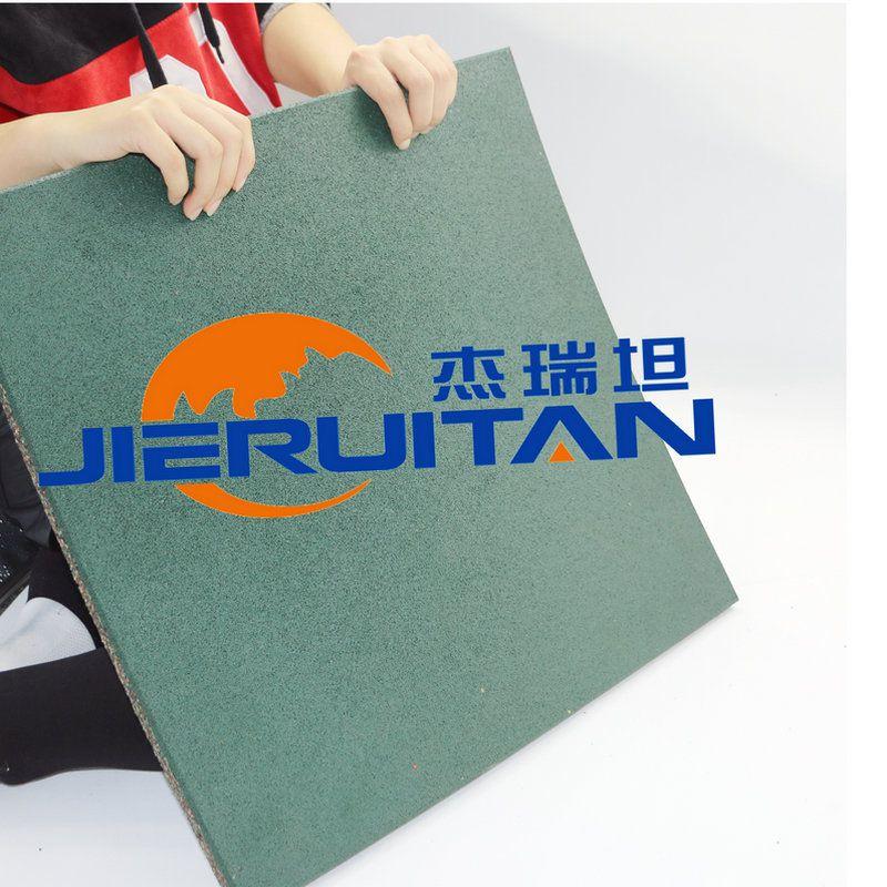 复合型橡胶地垫 橡胶地砖防滑耐磨 健身房专用 安全地垫