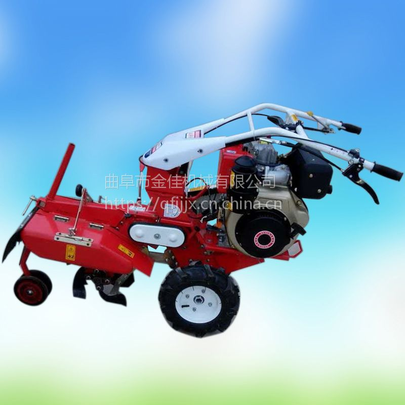 金佳机械农用大葱开沟机 水冷柴油培土机 果园手扶式开沟机直销