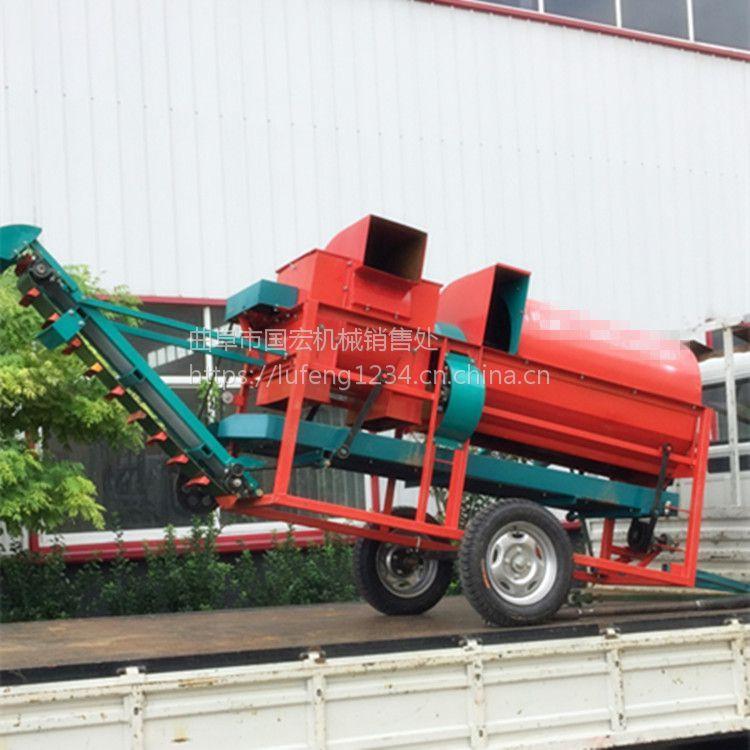 石家庄大型花生摘果机干湿两用鲁丰机械制造