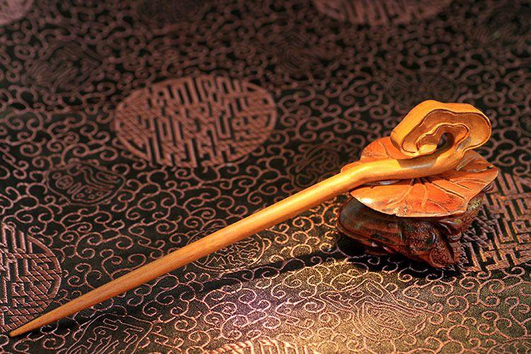 古典原色中国风盘发发饰汉服簪子木簪发簪枣幼儿园民国风毕业照图片