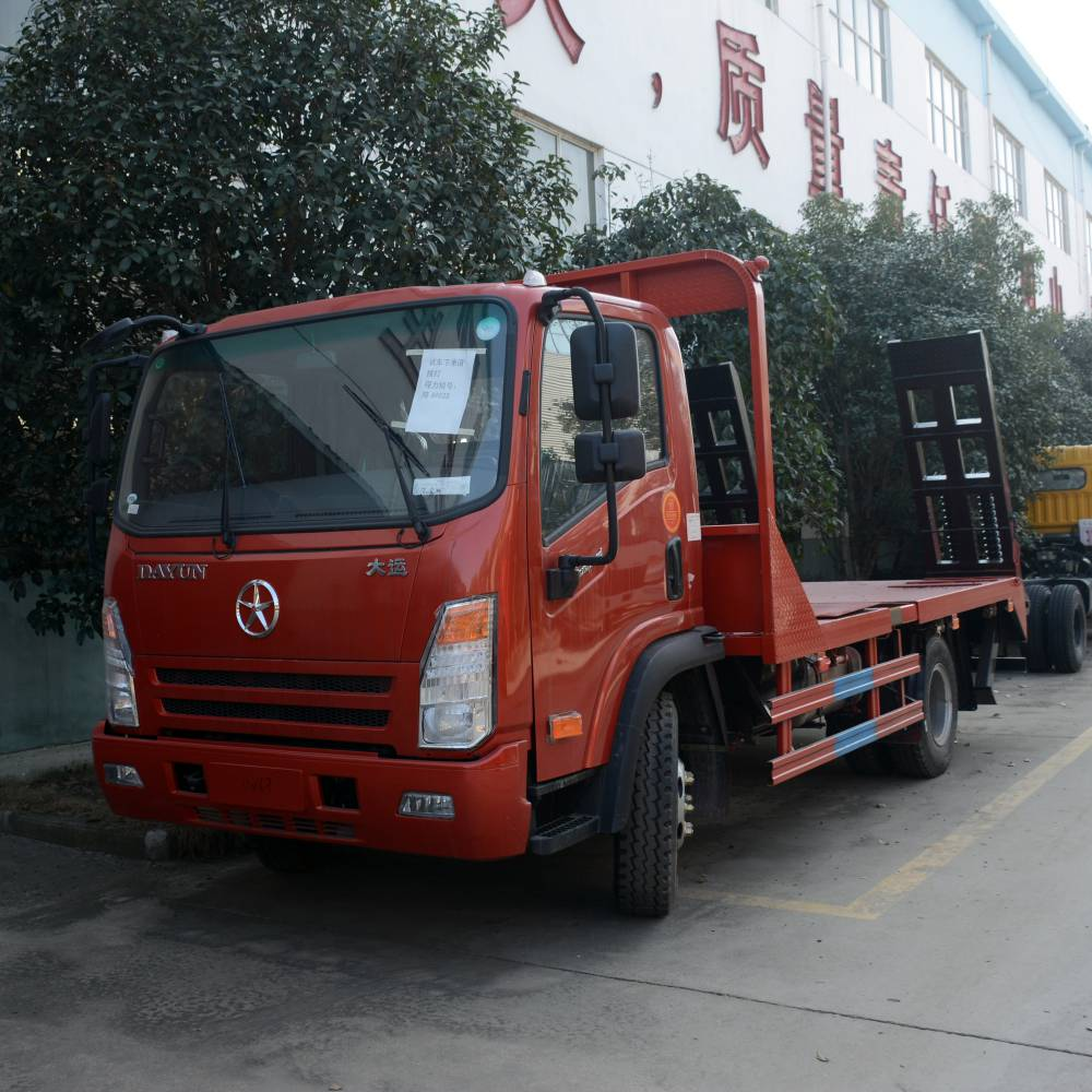 热消1.0L凯马小蓝牌挖机拖车畅销的蓝牌小型平板运输车