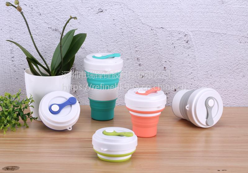 零售批发亚马逊爆款户外硅胶水杯