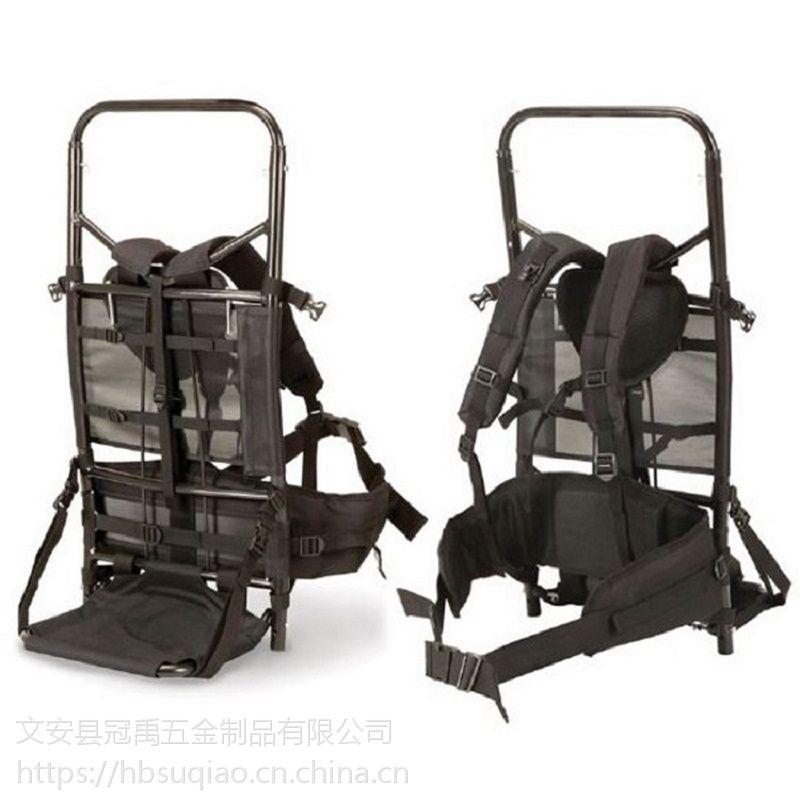 现货豪华铝合金狩猎垂钓重物背架 国外同款后背式双肩战术行李架