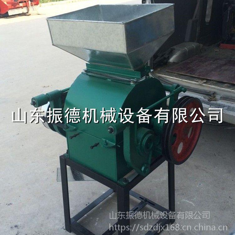 小麦玉米压扁机 振德牌 对辊式挤扁机 粗粮碾扁机