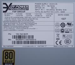 全汉集团3Y POWER电源 YM-7501B铜牌2U500W服务器电源