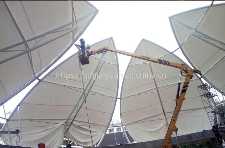 临水车棚膜布 停车棚膜布 钢架顶pvc膜布 厂家免费出图设计