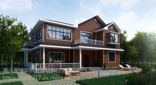 浙江别墅轻钢房子别墅建造轻钢结构搭建钢结构地区建造李岙村房屋图片