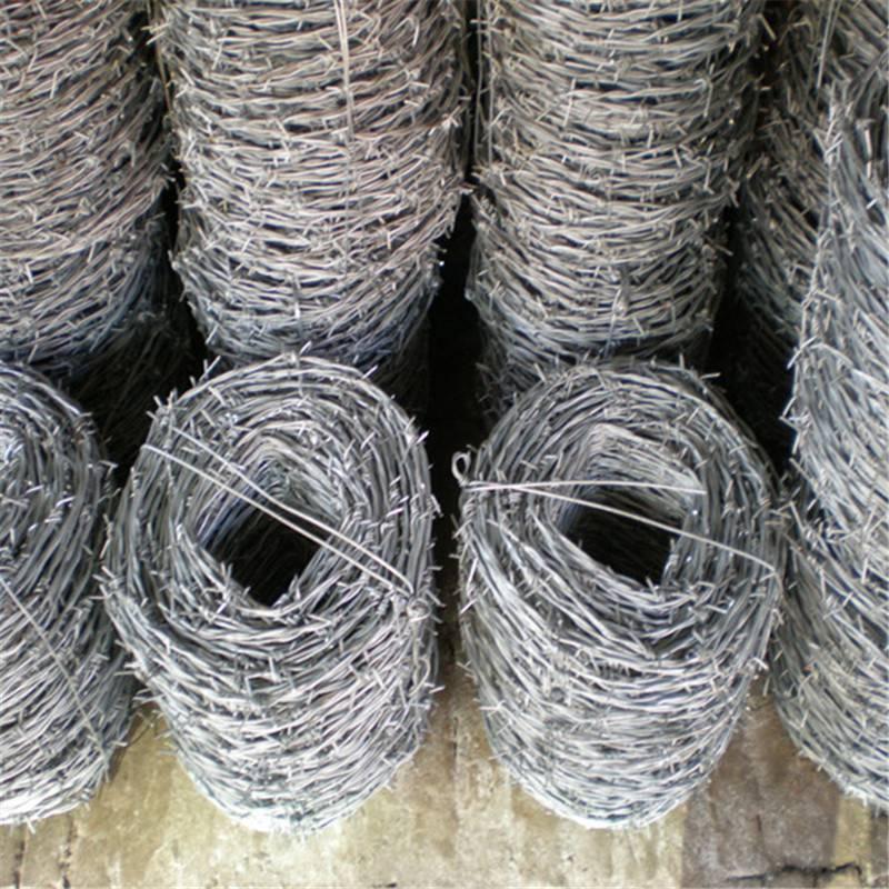 制作刺绳 双股刺绳生产 带刺铁丝网