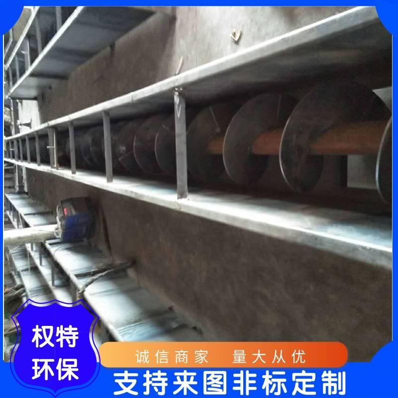 山东权特环保机械公司螺旋输送机卡料的解决方法
