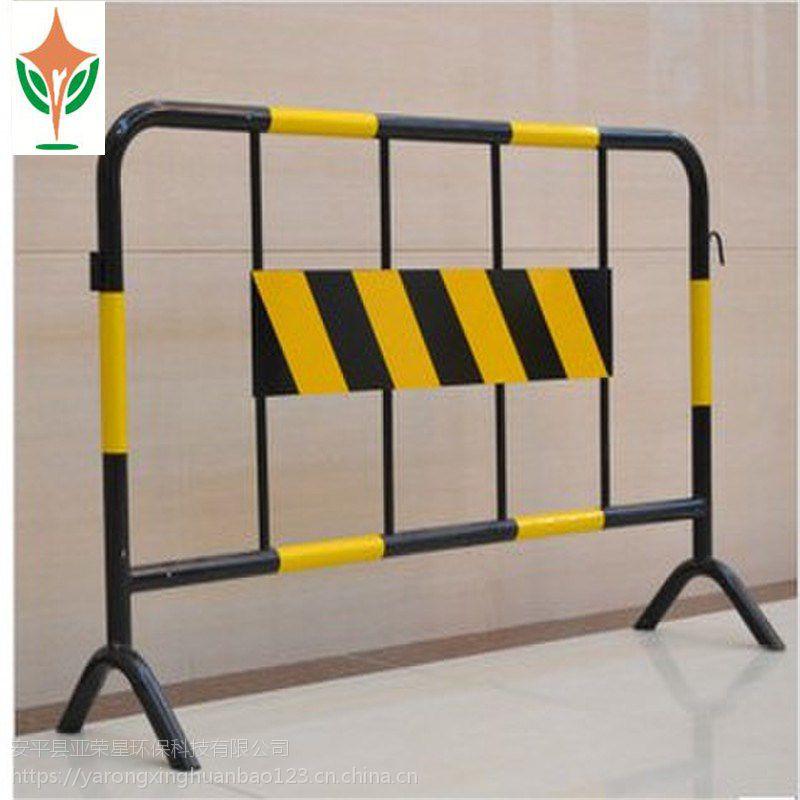 直销烤漆铁马护栏 施工保护围栏 移动铁马围挡 隔离栏