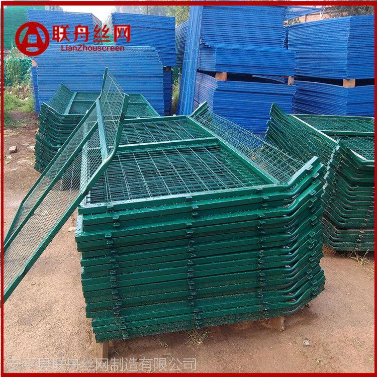 绿色道路护栏防护网 围山钢丝网 陕西镀塑片网厂家报价