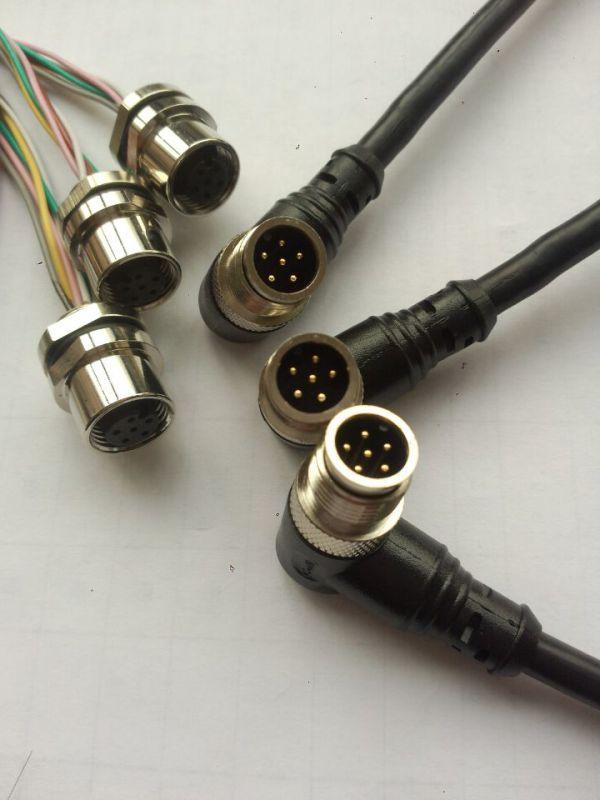 科迎法M12防水插头,M12圆形防水插头圆形接插件