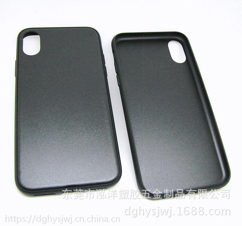 苹果iphoneX 带凹槽贴皮手机素材壳 苹果 8pc+tpu 二合一手机保护套