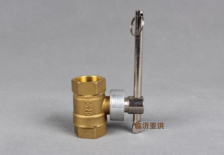 表前阀门钥匙 ppr内丝一字磁性锁闭阀门 供水暖气磁性全铜阀门图片
