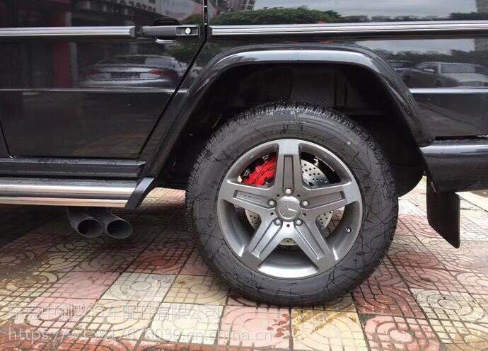 奔驰G500刹车系统升级改装AMG前六后四刹车卡钳套装