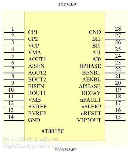 AT8812C(具有4级电流调节的1A双极步进电机驱动IC)