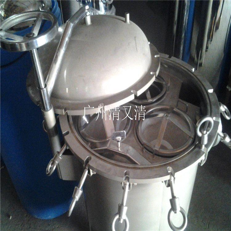 番禺区钟村食品厂果汁拦截杂质 广旗袋式过滤器效果显著 质保价廉