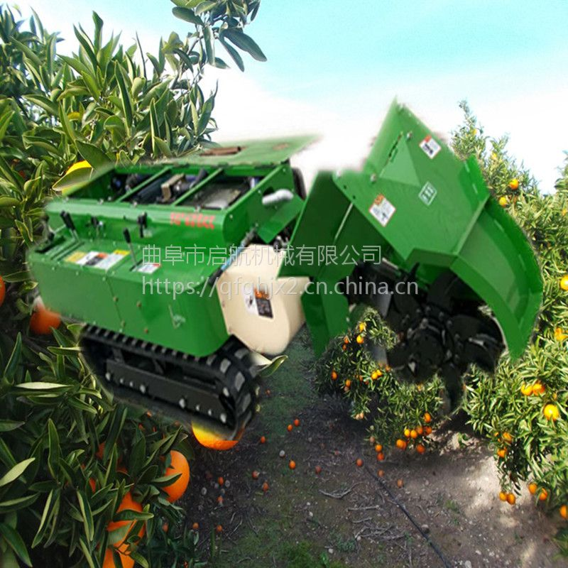 果树自走式果园旋耕机 多功能除草松土机 启航牌果园施肥机价格
