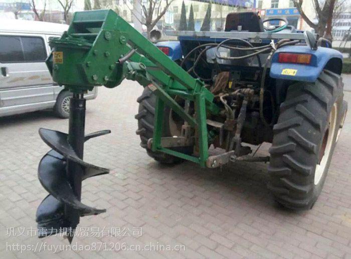 手推式挖坑机 大型土地钻孔机 马力大性能稳定