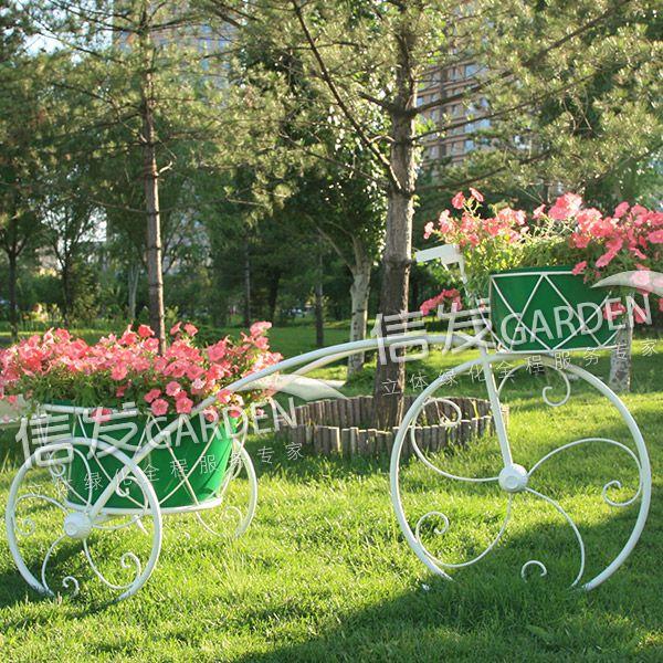 供应公园广场艺术花架 立体容器铁艺花架 假日有约