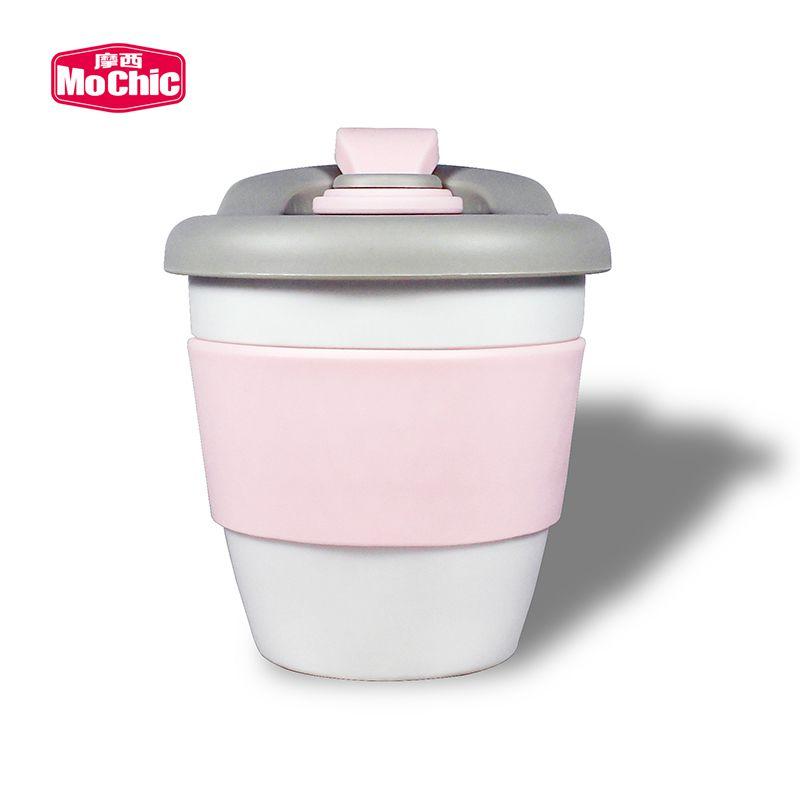 MoChic摩西PLA可降解咖啡杯单层密封防漏塑料杯MCS0025