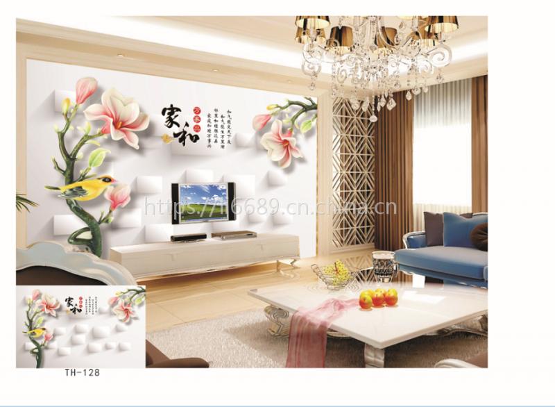 大型壁画厂 客厅卧室电视墙背景墙壁纸墙纸 中式壁画中国风个性定制