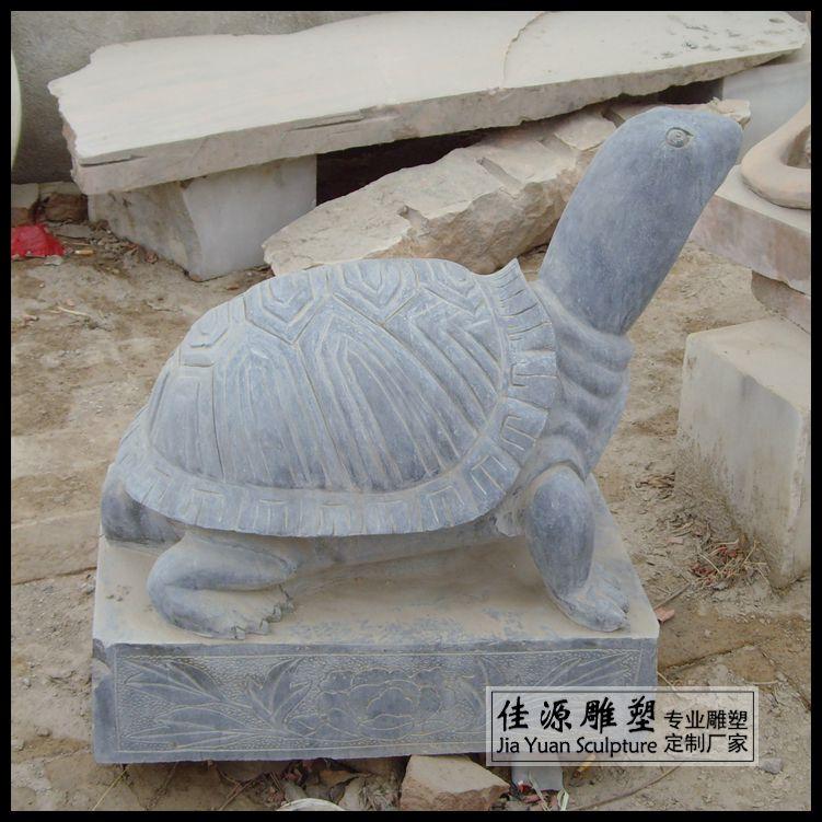 青石手工雕刻龙头龟招财纳福动物摆件乌龟