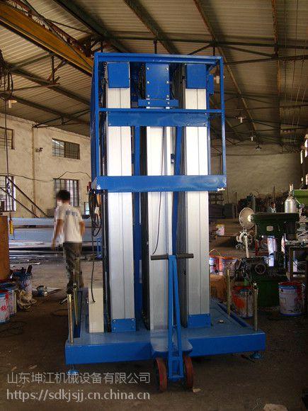 厂家生产单双桅柱铝合金升降平台电动升降台移动式小型云梯家用小电梯