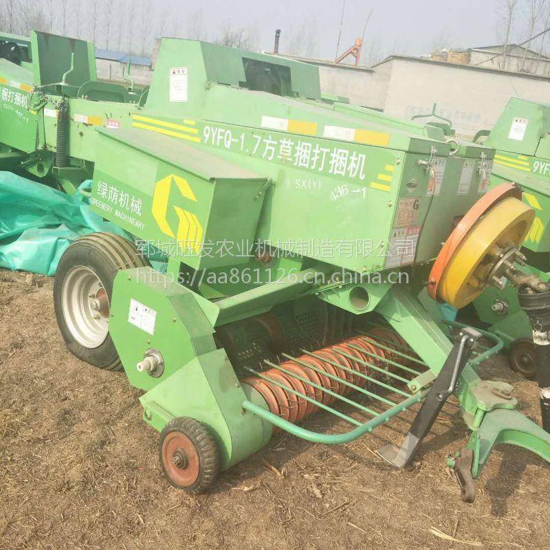 干湿玉米秸秆收割粉碎方捆打包装袋机 青贮打捆机