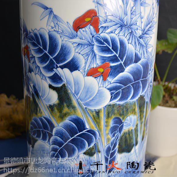 景德镇手绘青花瓷瓶 景德镇瓷瓶生产厂家