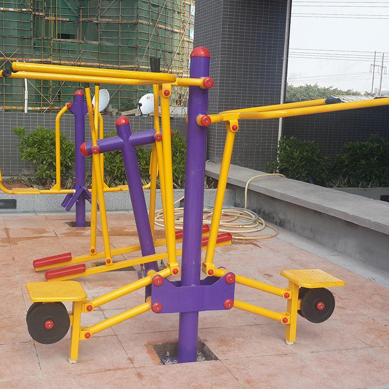 佛山公园健身设备有哪些 双人落地椭圆机 供应114管健身器材