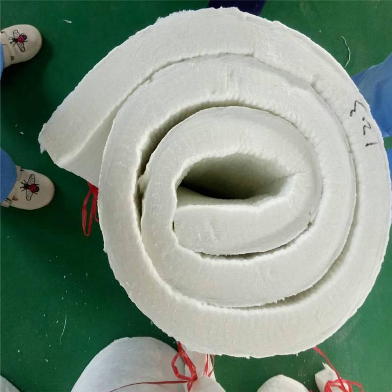 制作厂家硅酸铝纤维毯 15公分无纺硅酸铝针刺毯
