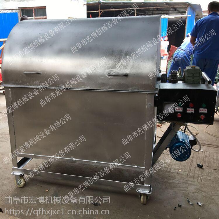 花生瓜子板栗炒货机 新型滚筒炒货机 定做不锈钢炒货机
