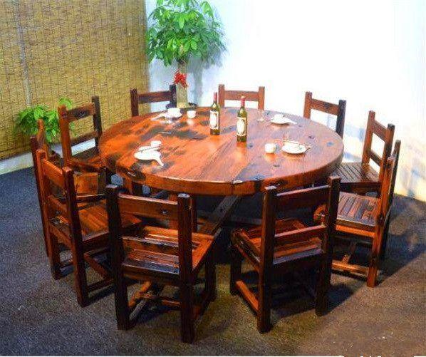 供应老船木茶几 老船木吧台 船木餐桌博古架
