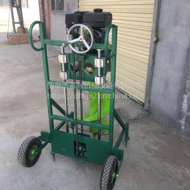 单双人可操作钻洞机 富兴手提式植树种树挖窝机 园林绿化打坑机厂家