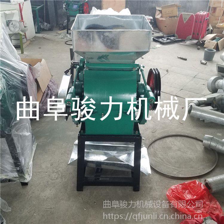 新款对辊型小麦压片机 花生米破碎机 粮食加工机械 骏力机械直销
