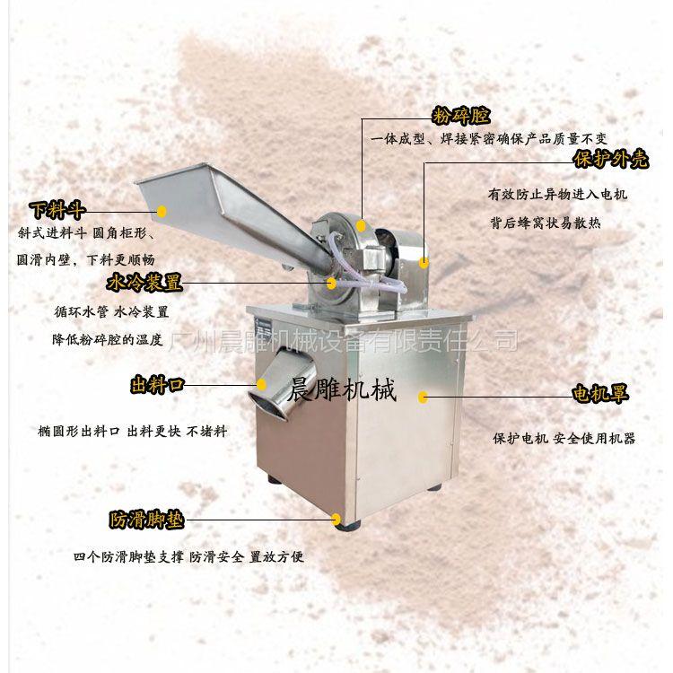 茶叶/白糖万能粉碎机 水冷式粉碎机可带除尘304全不锈钢