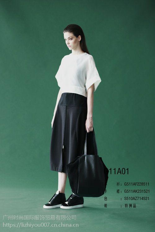 三淼品牌女装黑色简约正品低价折扣女装批发