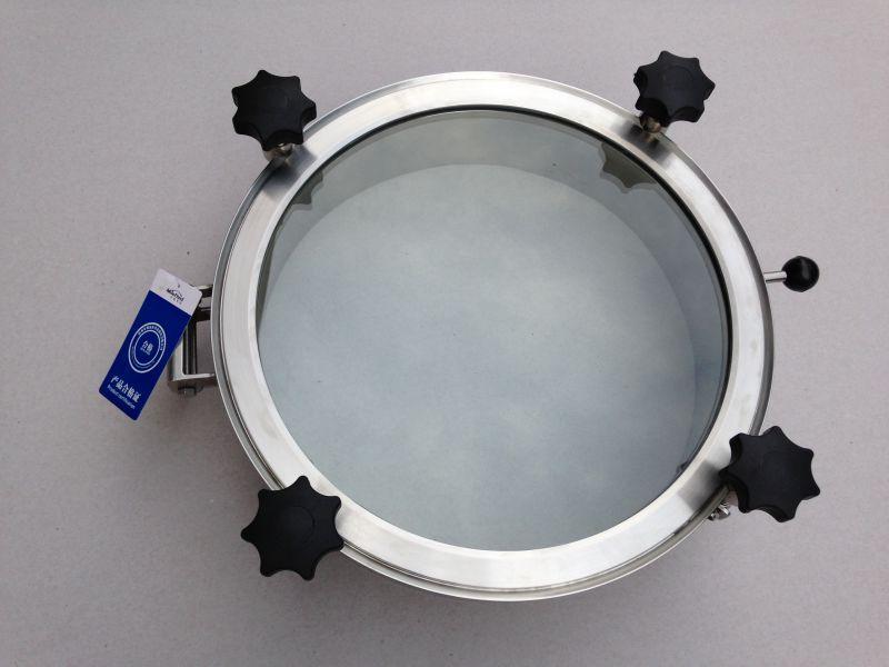 卫生级圆形人孔,304不锈钢圆形人孔标准