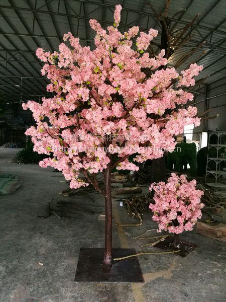 餐桌仿真花树 餐桌樱花树 婚礼布置仿真树工厂定做1米
