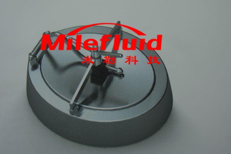 卫生级椭圆喇叭口人孔,304不锈钢椭圆喇叭口人孔标准