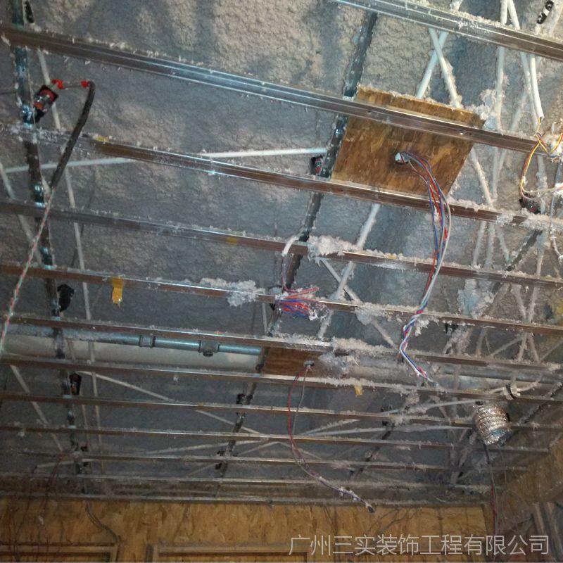 东莞酒吧ktv无机纤维喷涂施工消音吸声防火喷涂