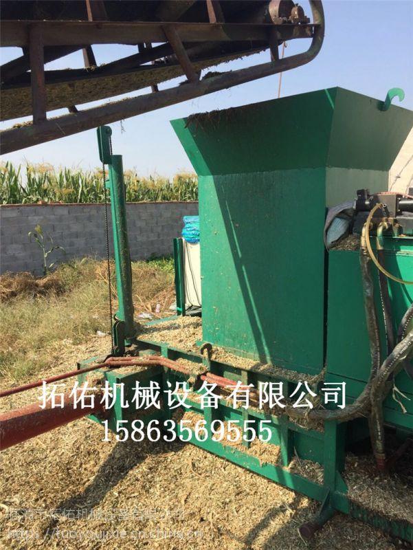 山东2017年新型青贮压块机金属液压打包机半自动压块机厂家直销