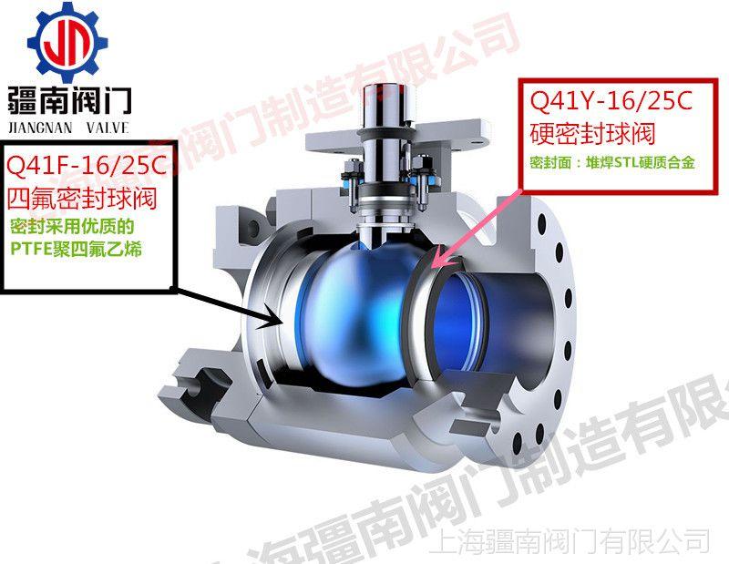 Q41Y-25C耐磨损球阀、Q41H-25C金属硬密封碳钢球阀
