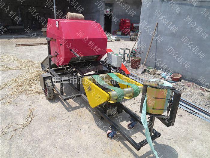 草料储存发酵保鲜加工设备 润众 操作简单青贮打捆包膜机