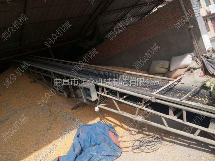 混凝土搅拌站用沙石输送机 固定大倾角传送带润众