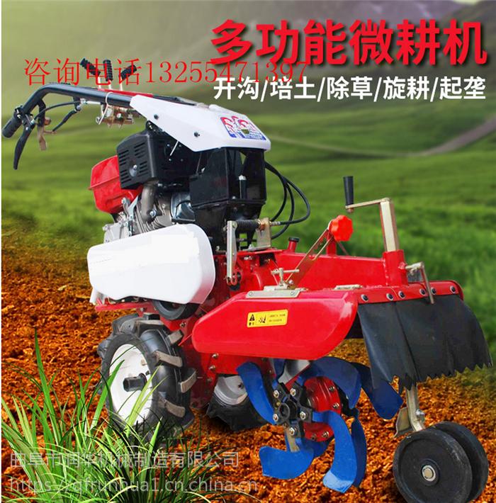 农作物种植开沟机 汽油微耕松土机 效果不错大姜培土机