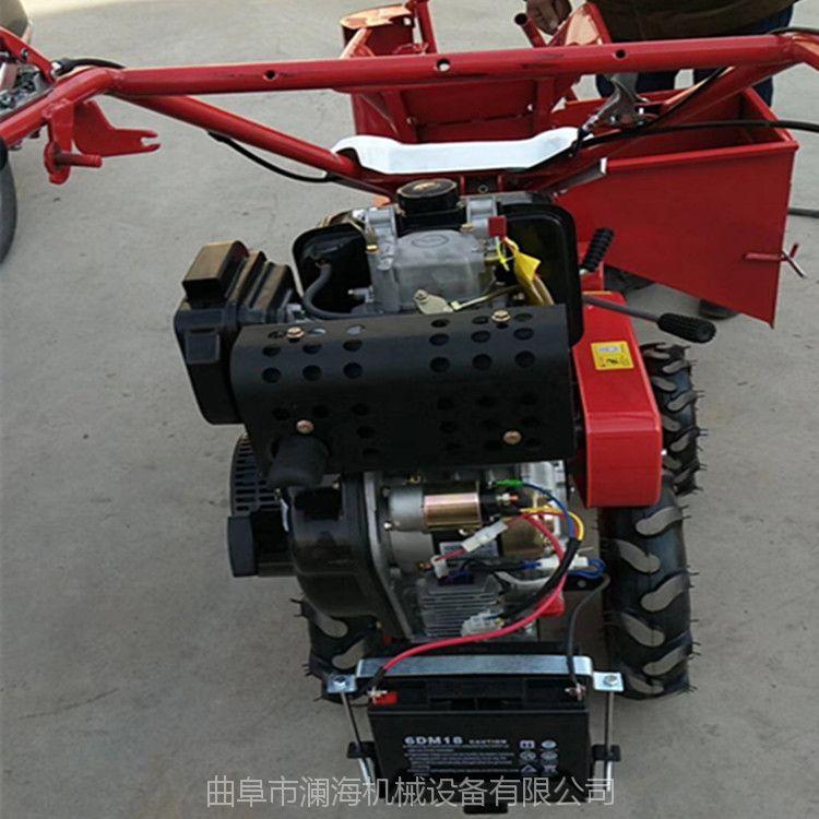 云南小型柴油单行玉米收获机