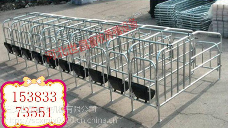 猪用设备定位栏猪床限位价格厂家