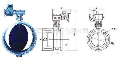 D941S-0.1C电动蝶阀 除尘烟气管道通风蝶阀 D941S型由上海疆南阀门制造